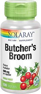 Solaray Butchers Broom 440 mg | Healthy Circulation & Blood Vessel Integrity Support | Non-GMO, Vegan & Lab Verified | 100 VegCaps