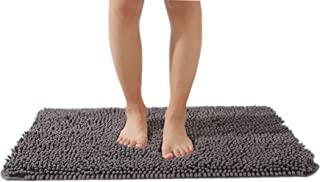 EFORPAD Chenille Bathroom Rugs,Soft and Absorbent Bathroom Mat Rug Non-Slip Carpet Machine Wash and Dry for Shower Room,Gr...