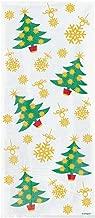 20 Cellophane Party Bags - Golden Christmas Trees (Xmas)