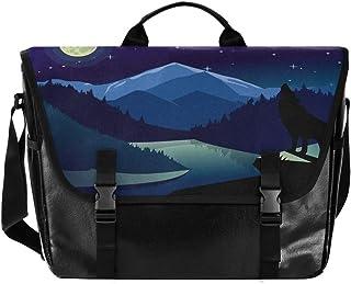 Silhouette Moonlight Wolf - Bolso de lona para hombre y mujer, diseño retro de lobo