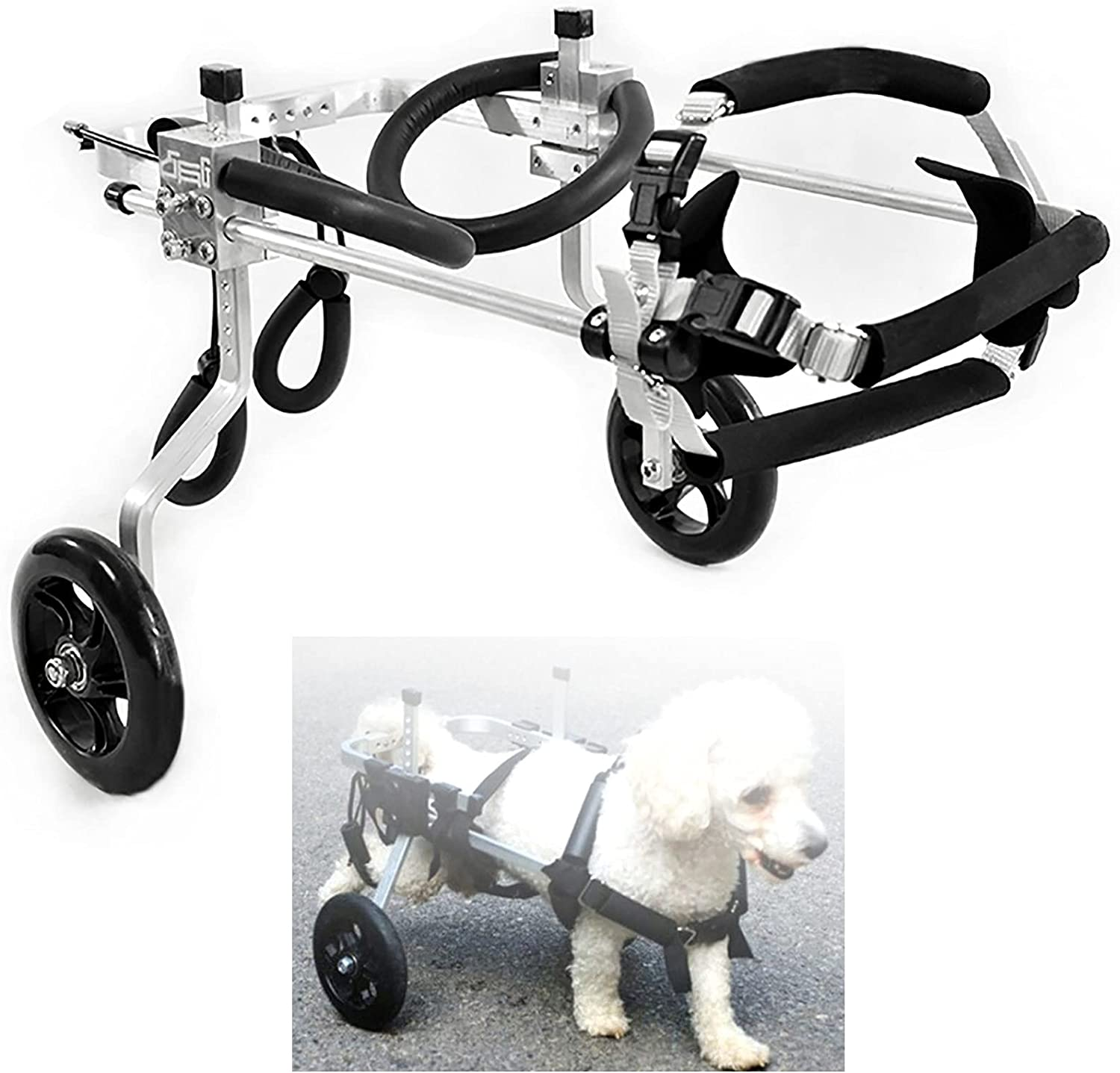 Adjustable 2 Wheels Dog Wheelchair L Animal Fort Worth Mall hind Exercise Some reservation