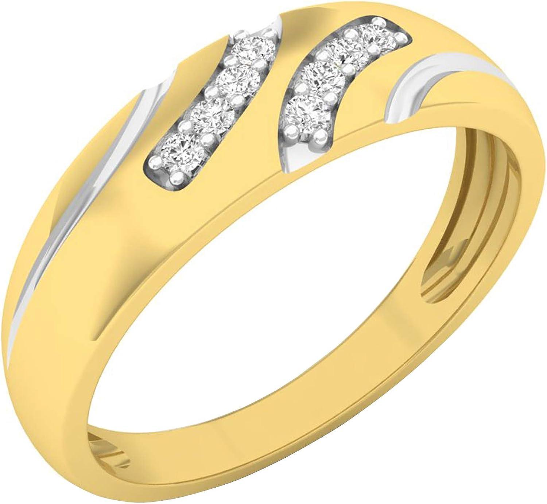 Dazzlingrock Collection 0.12 Carat ctw White Round 10K Gold Di 送料無料 激安 現金特価 お買い得 キ゛フト