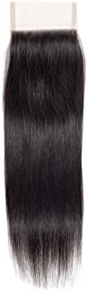 Cranberry Hair Free Part Lace Closure 4x4 Straight hair Brazilian Hair Virgin Human Hair 130% Density Lace Closure Natural Color Hair