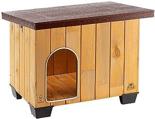 Ferplast Caseta de exterior para perros BAITA 60, Madera eco
