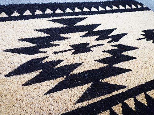 ココナツマット屋外用玄関マット(トライバルブラック)ココマットコイヤーマット南国リゾート西海岸風インテリアアメリカン雑貨