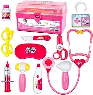 Mallette Docteur EnfantJouet-Jeu d'imitation-Kit du Docteur Médicale Jouet Avec Accessories Regalos de Pâques Jouets-...
