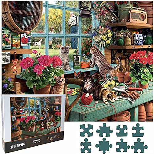 Puzzle 1000 Piezas, Rompecabezas de Madera de Piezas Grandes para Adultos, Ancianos, Niños