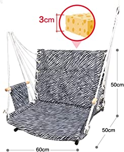CHENTAOCS Hanging Chair  Dormitory Bedroom Student Hammock  Swing Chair  Outdoor  Color Gray  Size