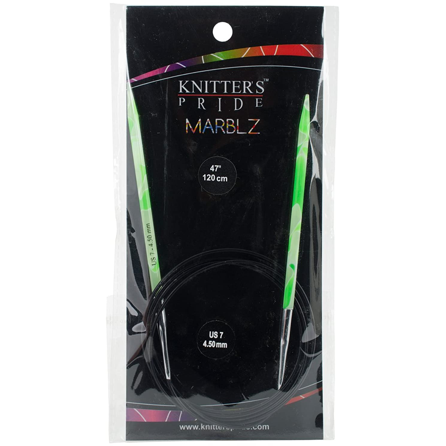 Knitter's Pride 7/4.5mm Marblz Fixed Circular Needles, 47