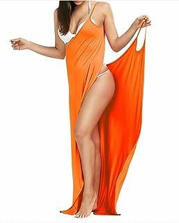888d8bb6d Women's Bikini Cover Up Spaghetti Strap Beach Dress Wrap Swimwear Swimsuit