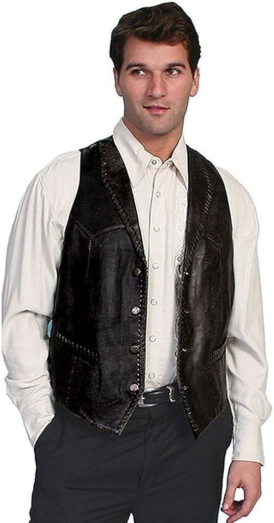 Scully Men's Whipstitch Lamb Leather Vest - 206-171