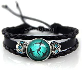 Circling Sharks Bracelet Personalized jewelry Leather Bracelet Gifts Customize Your Own Style