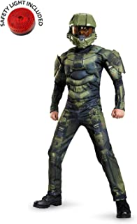 Halo Master Chief Muscle Costume Kit with Safety Light