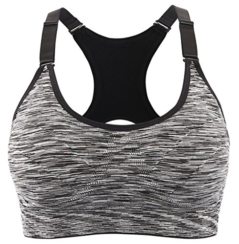 Srizgo Sports Bra 1 Or 4 Pack Padded Seamless Bras High Impact Push up for...