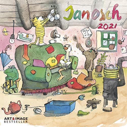 Janosch 2021 - Wand-Kalender - Broschüren-Kalender - A&I - 30x30 -30x60 geöffnet