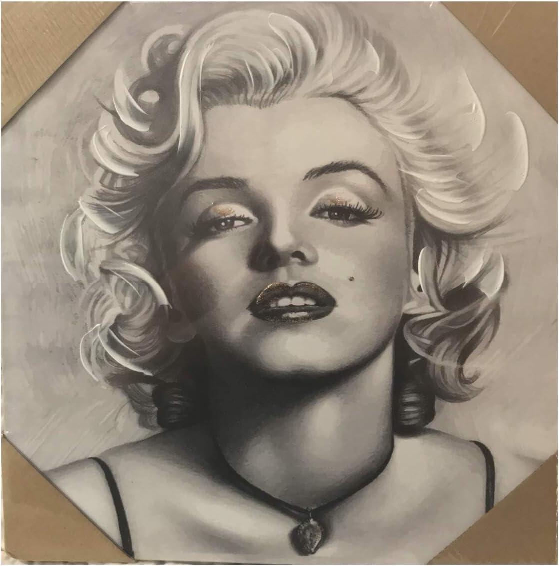 MARILYN MONROE CANVAS WALL ART BLACK/&WHITE