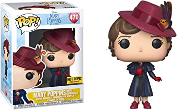 Mary Poppins with Umbrella (Hot Topic Exclusive): Mary Poppins x Funko POP! Disney Vinyl Figure & 1 PET Plastic Graphical Protector Bundle [#470 / 33904 - B]