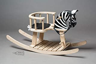 Christmas Rocking Zebra - Secret Zebra - Wooden Zebra - Best Christmas Gift for Baby - Wooden rocking zebra - Baby Shower gift - 1st Birthday Gift - Royal Toy