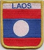 Laos Flagge bestickt Patch (cy028)