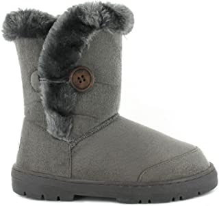 BRAND NEW GIRLS BLACK FUR LINED ANKLE BOOTS sizes 12-2.5