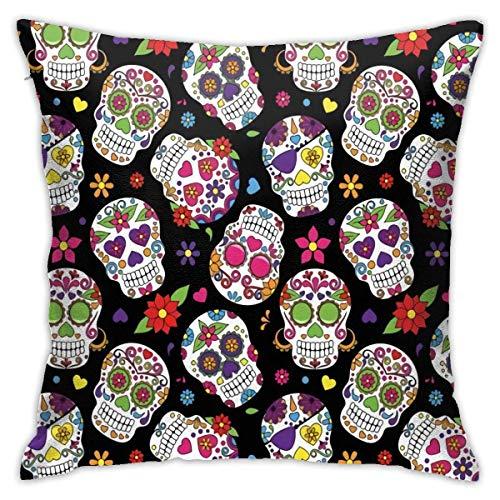 QUEMIN Fundas de Almohada Festive Ceveyard Mexico Ritual Throw Pillow Funda de cojín Moderno Funda de Almohada Cuadrada Decoración Sofá Cama Silla Coche 45x45 cm