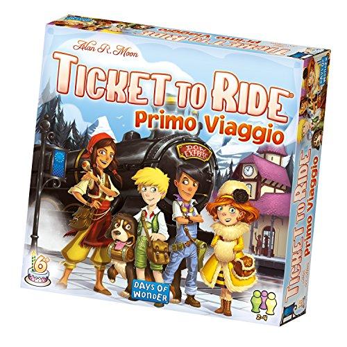 Asmodee Ticket To Ride: Primo Viaggio, Gioco Base, Gioco da Tavolo, Ed. Italiano, 8516