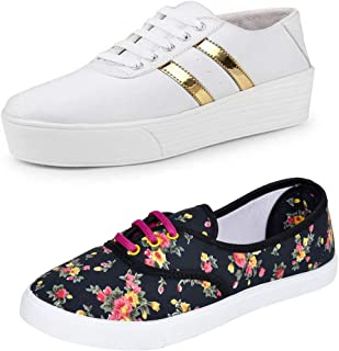 Earton Stylish & Designer Casual Sneakers Shoes for Women Size: 4 (Colour: Multicolor) _ 229