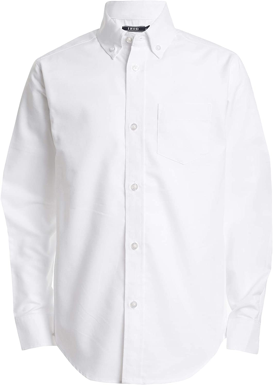 Latest item IZOD Boys' Long Sleeve unisex Shirt Button-Down Oxford Solid