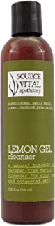 Source Vitál Apothecary | Lemon Gel Cleanser | Natural Facial Wash for Oily, Acne and Congested Skin | 8.39 oz