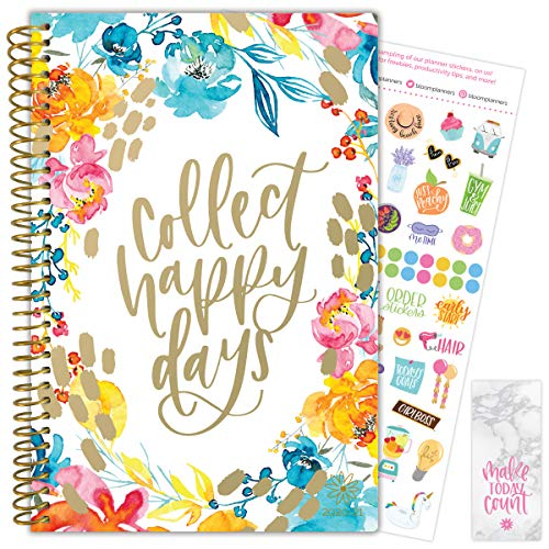 "bloom daily planners 2020-2021 Academic Year Day Planner & Calendar (July 2020 - July 2021) - 6"" x 8.25"" - Weekly/Monthly Agenda Organizer with Stickers and Bookmark - Collect Happy Days"