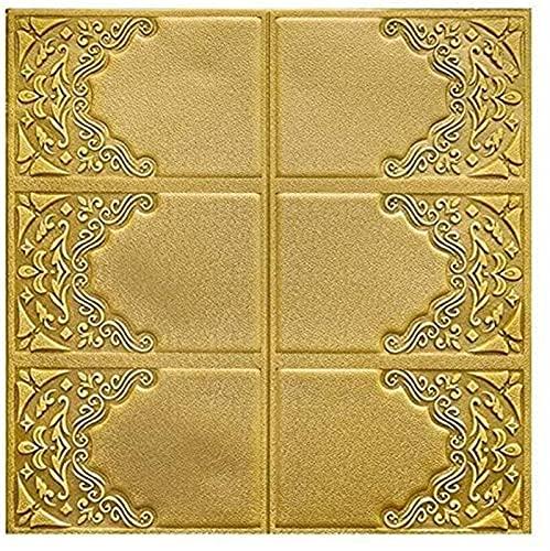 Paneles de Pared de ladrillo de Espuma Colorido 3D Papel Tapiz Europeo Decoración de Dormitorio autoadhesiva Paquete Suave Azulejo 70 * 70cm Etiqueta de Espuma de Pared de Fondo para Villa