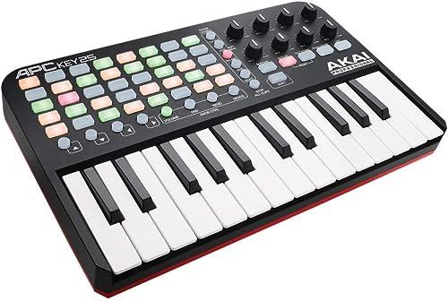 AKAI Professional APC Key 25 - Contrôleur MIDI Alimenté par USB, 40 Pads pour Ableton Live, Clavier 25 Touches, 8 Pot...