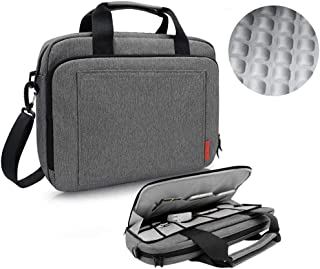 iCozzier 13.3-14 Inch Laptop Shoulder bag, Handle Briefcase Electronic Accessories Storage Messenger Carrying Protective Case for Ultrabook/Notebook/MacBook-Grey