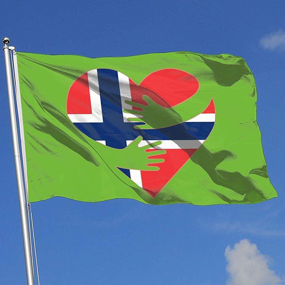 Novelcustom Family Flags, Bandera del Abrazo De Noruega Banderas Elegantes Al Aire Libre del Patio para La Fiesta De Jardín De La Casa 180CMx120CM: Amazon.es: Jardín