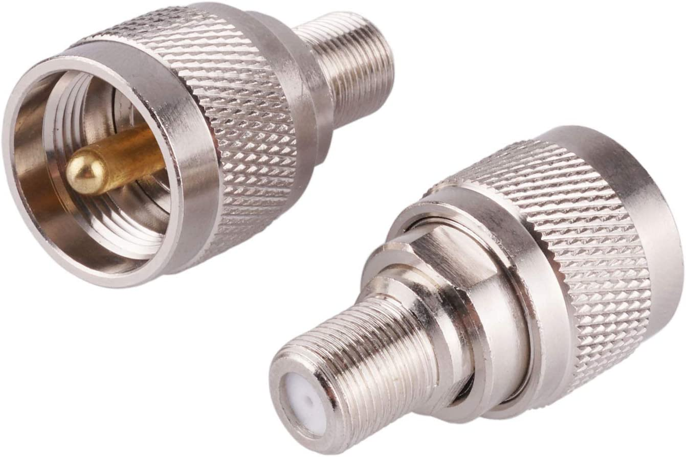 2pcs outlet RF coaxial Bargain Coax Adapter F Male Female Connect PL-259 to UHF
