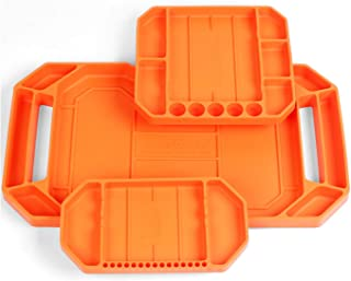 HORUSDY 3PC Large Non-Slip Flexible Tool Tray | Tool Organizer | Tool Storage | Tool Holder | Tool Mats | No Magnets | Gri...