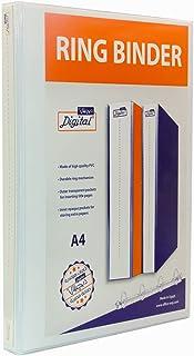 Digital A4 Ring Binder, 2 Ring D-Shaped, 25 cm - White