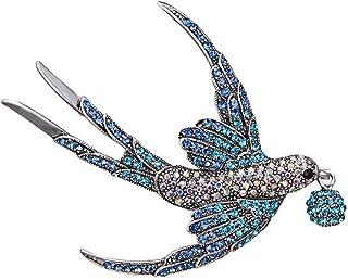 Oce180anYLV Creativo Spilla Pin Moda Donna Strass Rondine Uccello Collare Spilla Pin Bavero Vestiti Gioielli