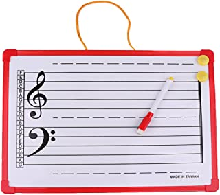 Homyl 1 Set Music Theory Instruction Board Writing Whiteboard for Meeting School Teaching
