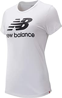 New Balance Women Nb Essentials Stacked Logo Tee Top
