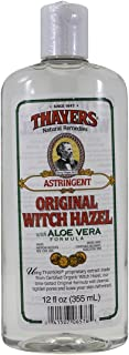 Thayers Witch Hazel with Aloe Vera, Original Astringent 12 oz (Pack of 5)