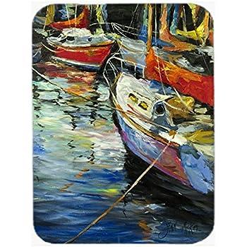 Carolines Treasures JMK1151MP Boat Docks Sailboats Mouse Pad Large Hot Pad or Trivet Multicolor