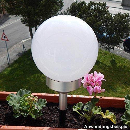 Solarlampe 4LED Ø15cm Solarleuchte Erdspieß Balkonhalter Kugelleuchte Solar