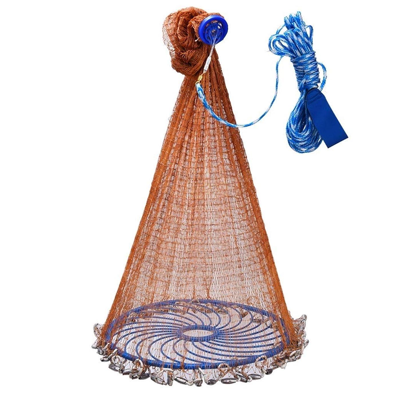 休み柱共役フライアウト円盤型漁網海釣り用ポータブル漁網