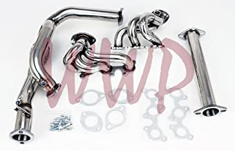 Performance Polished Stainless Steel Exhaust Headers Manifold System For 1996-2001 Toyota Camry Solara 3.0L V6