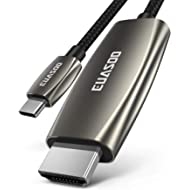USB C to HDMI Cable(4K@60Hz), EUASOO USB Type-C to HDMI Adapter [Thunderbolt 3 Compatible] for...