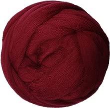 Zituop Super Soft Chunky Yarn Bulky Roving for Arm Knitting Blanket, 1.1lb (Burgundy)