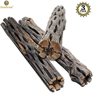 SunGrow 3 Cholla Woods Aquarium Decor, Chew Toys for Small Pets, DIY Artistic Home-Decor,..