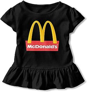 Kids Girls' Classic McDonalds- Logo Tee T Shirt Short Sleeve Tshirt for Girls T-Shirt Crew Neck Clothes
