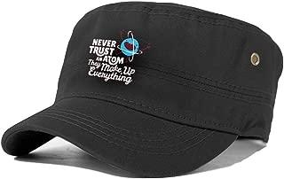 Never Trust an Atom Cotton Flat Cap Cabbie Hat Gatsby Ivy Cap